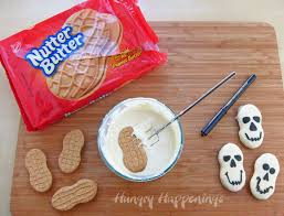 quick and easy halloween treats nutter butter skulls hungry