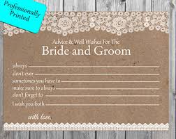 wedding wishes and advice cards rustic advice card etsy