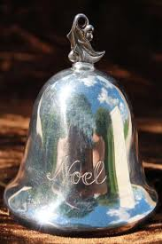 reed barton noel 1st edition ornament bell white