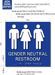 gender neutral symbols restroom tactile braille signs