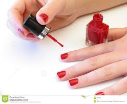 painting her nails stock photo image 43370