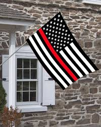 American Flag Design Red Line American Firefighter Flag Brotherhood Products