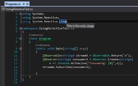 Studio System by C Check Using Directive Reference In Visual Studio Stack Overflow
