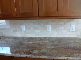 red subway tile beaded cabinet doors granite countertops spokane