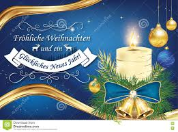Happy New Year Business Card German Christmas And New Year Business Greeting Card Stock