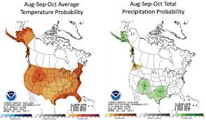 Future Temperature And Precipitation Change In Colorado Noaa The Weather Forecast For August September And October