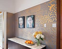 elaborate hand painted gold and grey livingroom happy sleepy