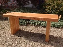 irish oak bench irish oak personalised gifts