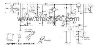 the 0 50v 2a power supply circuit by ic lm723 transistor 2n3055