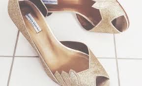 chaussures plates mariage trouver chaussure argentée ou dorée à pied les marieuses
