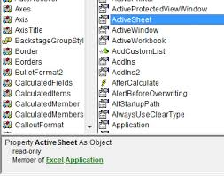 excel vba intellisense only showing after the first period and