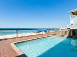 the beach house florida directly on the beach 6 bedroom beach house with pool and tub