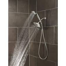 lighting moen shower with spray shower and shower