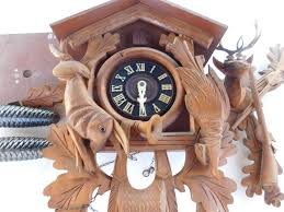 8 Day Cuckoo Clock Vintage 8 Day Cuckoo Clock 1969 Black Forest Authentic Deer