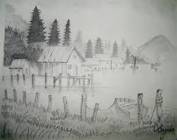 pencil drawing of natural scenery archives pencil drawing collection