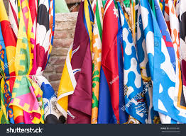 Palio Di Siena Flags Flags Siena Contrade Districts Palio Festival Stock Photo
