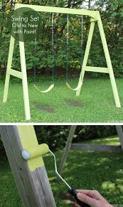 Swings For Backyard Swing Set Old To New With Paint