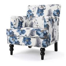 boaz upholstered club chair floral print christopher knight