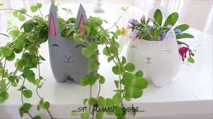 diy cat and bunny supercute pen or flower holder youtube
