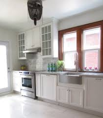 kitchen sinks and faucets kitchen traditional with crown molding