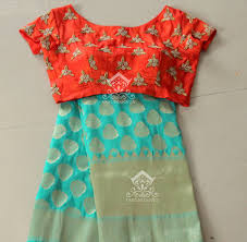 designer blouses banarasi saree with designer blouses from varuni gopen