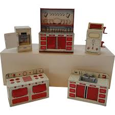 Dollhouse Kitchen Furniture Vintage Brimtoy Tin Litho Dollhouse Kitchen Set From Choses
