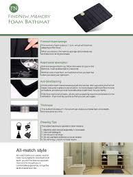 24 X 60 Bath Rug Amazon Com Update Findnew Microfiber Memory Foam Bath Mat With
