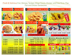 take out menu welcome to seafood wing and chicken