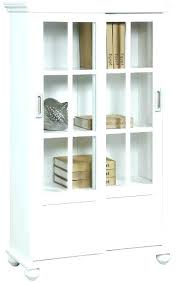 Ikea Bookcase With Glass Doors Ikea Bookshelf With Doors Thespokesman Me