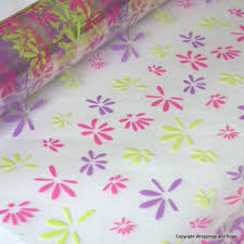 cellophane gift wrap petal cerise lilac and lime cellophane gift wrap