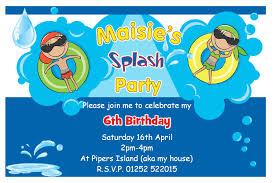 simple birthday invitation wording swim birthday party invitations vertabox com