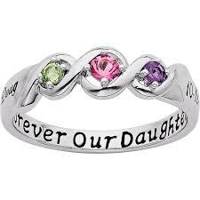 ring with birthstones personalized keepsake lustre s birthstone ring walmart