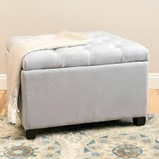 threshold traditional tufted storage ottoman bench with nailheads