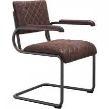 Manhattan Leather Chair Father Dining Arm Chair Vintage Brown Zuo Modern Modern Manhattan