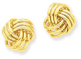 yellow gold earrings basketweave knot earrings 14k yellow gold