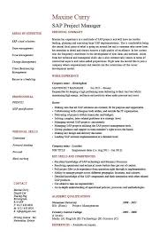 Project Resume Example by Sap Project Manager Resume Sample Job Description Career