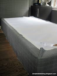 Daybed Mattress Slipcover Simple Details Upholstered Box Spring Tutorial