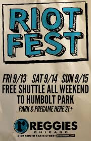 Riot Fest Map Chicago by Riot Fest Shuttle Reggies Chicago