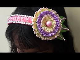 how to make kanzashi flower headband tutorial diy ribbon flower