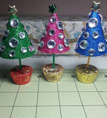 diy sweet sparkly trees for decoration or