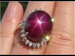 star ruby rings images Certified natural red star ruby diamond 14k yellow gold cocktail jpg