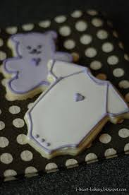 i heart baking baby shower cookies