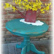 teal accent table shop vintage accent table on wanelo