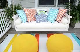 porch with swing sofa contemporary porch