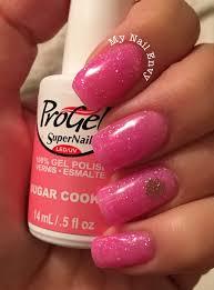 sugar cookie u2013 my nail envy progel sheer pink glitter nails