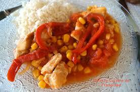 recette de cuisine pour le soir dés de poulet à la mexicaine dans la cuisine de françoise