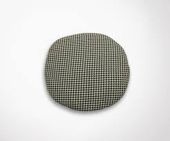 chaise saarinen pillow s pad for tulip chair houndstooth effect