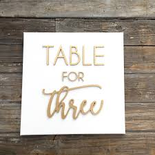 Dining Room Wall Quotes by Table For Three Laser Cut Quote On White Canvas
