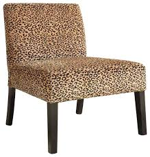 Brown Accent Chair Brown Accent Lounge Chair With Leopard Print Pattern