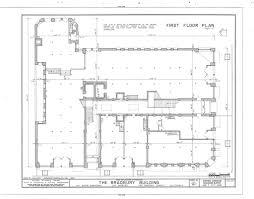 Floor Plan Survey Bradbury Building First Floor Plan Located In The Library U2026 Flickr